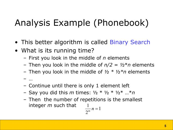 Analysis Example (Phonebook)