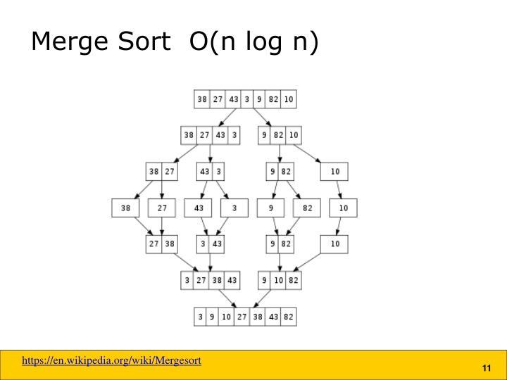 Merge Sort  O(n log n)