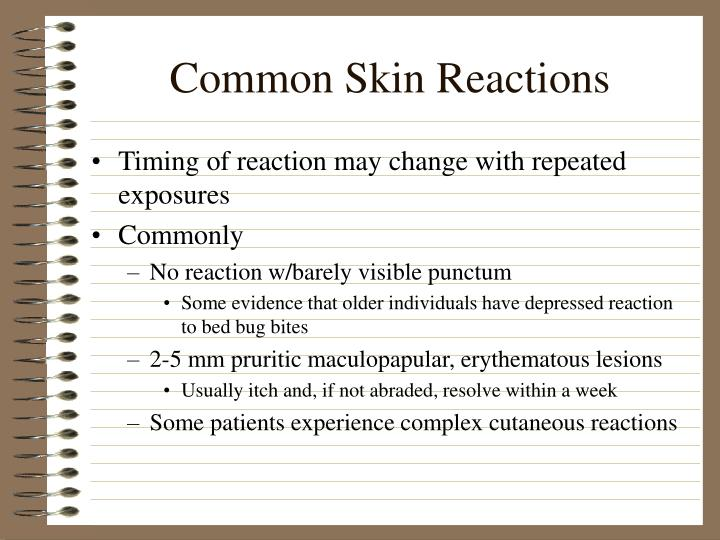 Common Skin Reactions