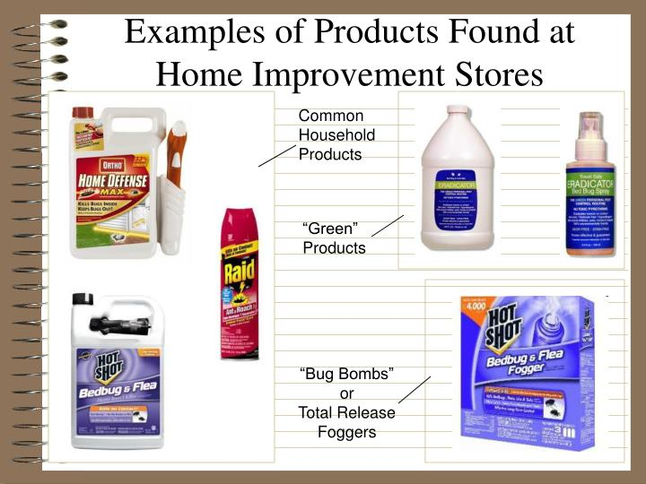 Examples of Products Found at Home Improvement Stores