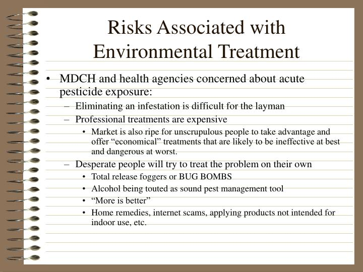 Risks Associated with Environmental Treatment