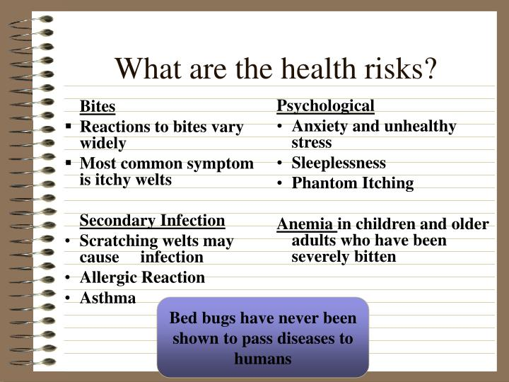 What are the health risks?