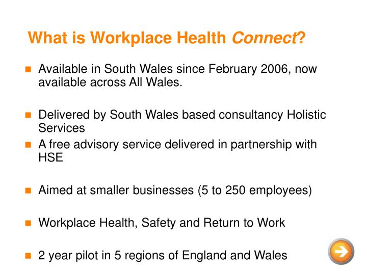 What is workplace health connect