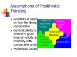 assumptions of positivistic thinking2