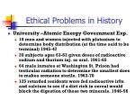 ethical problems in history1
