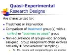quasi experimental research designs