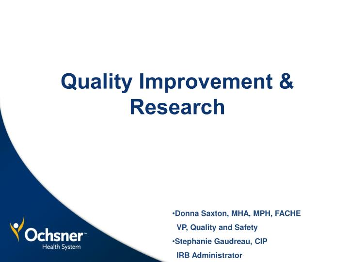 quality improvement research n.