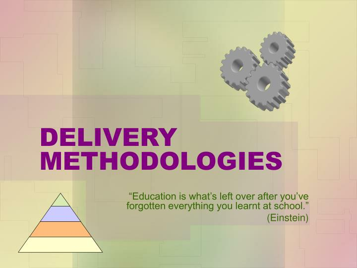 delivery methodologies n.