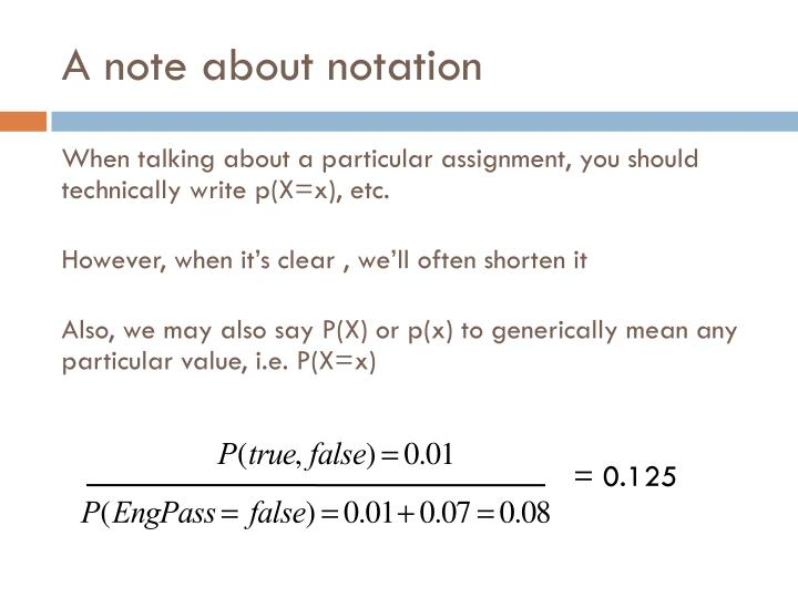 A note about notation