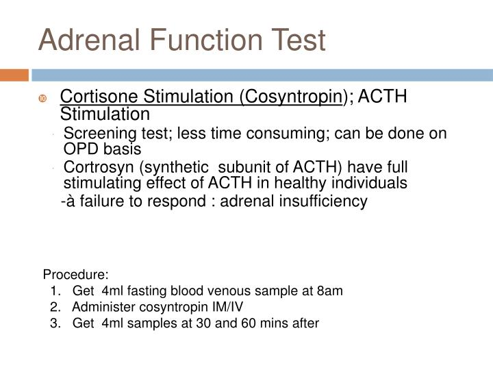 Adrenal Function Test