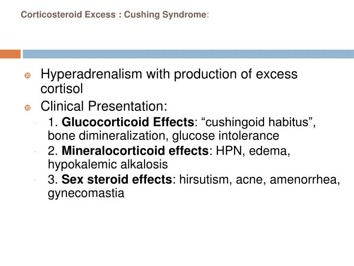 Corticosteroid Excess