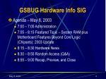 gsbug hardware info sig1