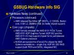 gsbug hardware info sig24