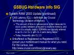 gsbug hardware info sig5