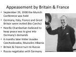 appeasement by britain france