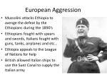european aggression
