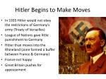 hitler begins to make moves