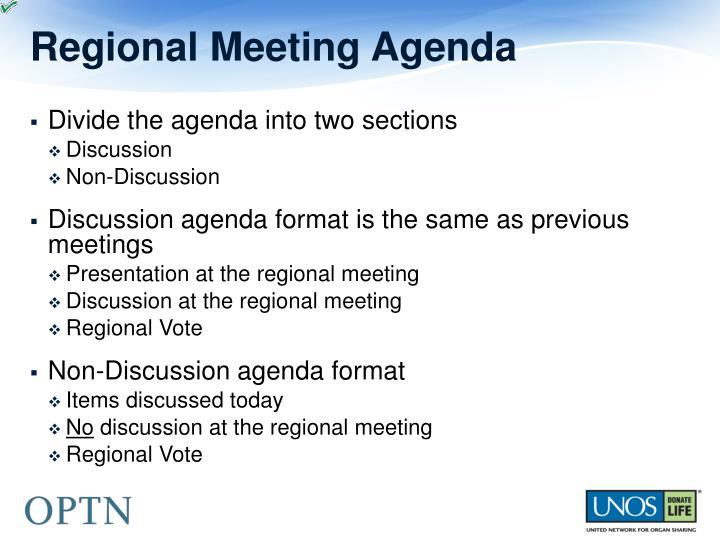 Regional Meeting Agenda