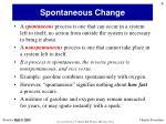 spontaneous change