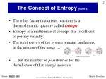 the concept of entropy cont d