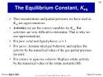 the equilibrium constant k eq