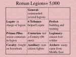 roman legions 5 000