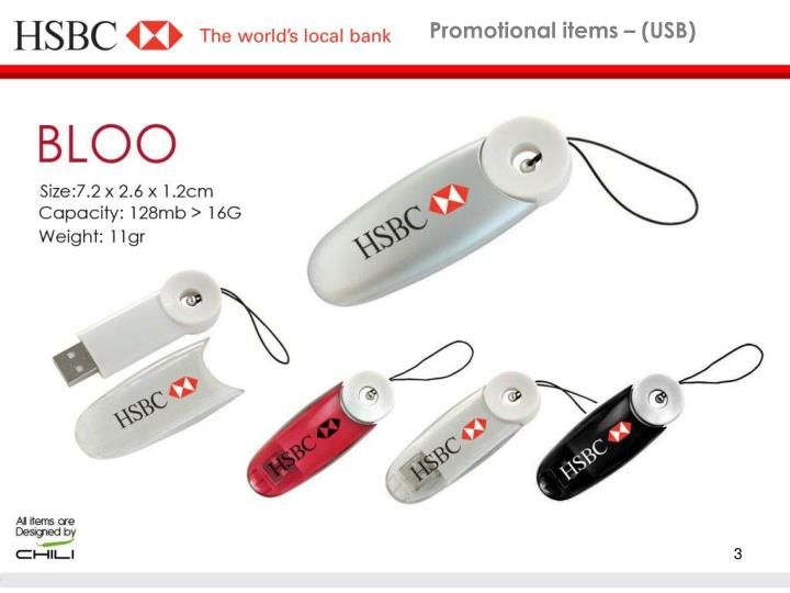 Promotional items usb