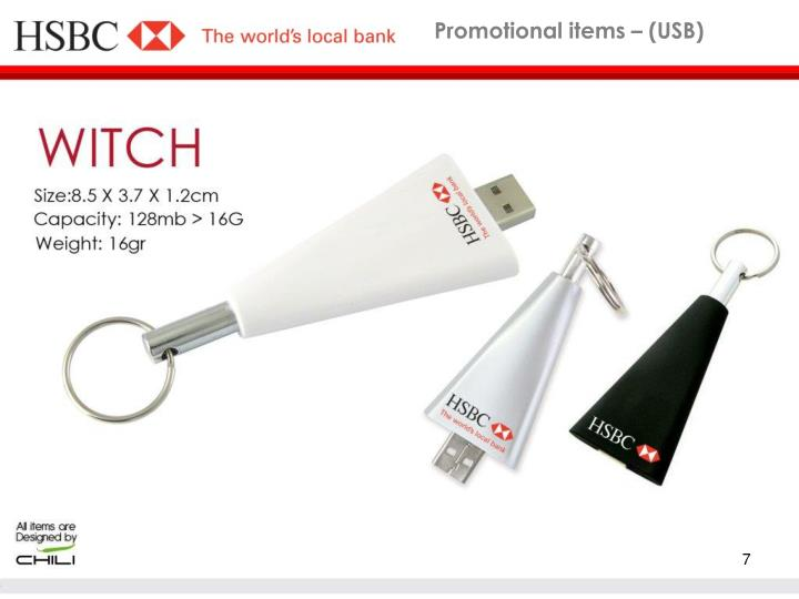 Promotional items – (USB)