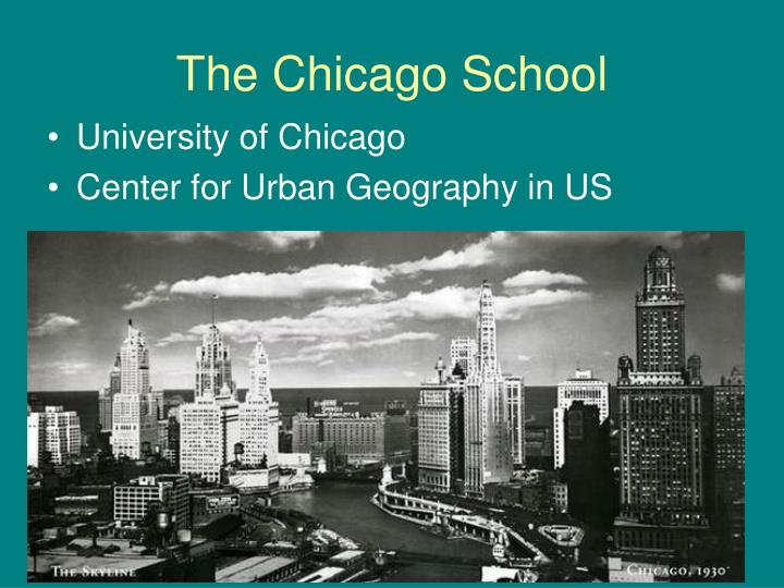 The chicago school