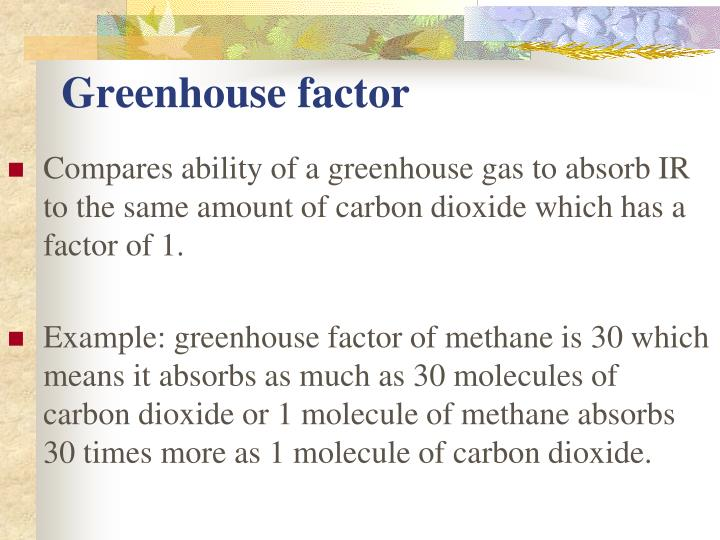 Greenhouse factor