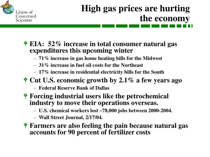 High gas prices are hurting