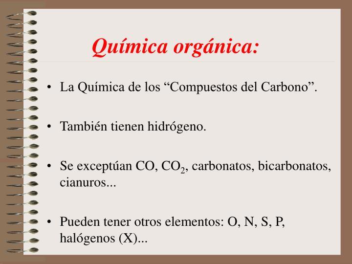 Química orgánica: