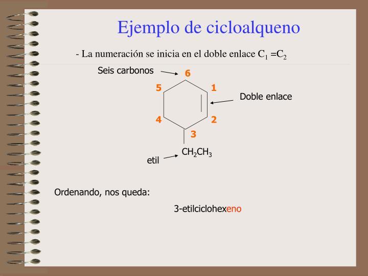 Ejemplo de cicloalqueno
