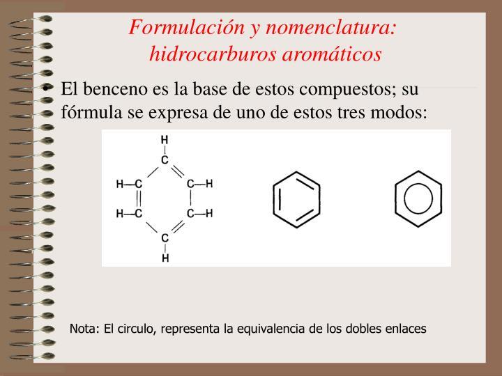 Formulación y nomenclatura: