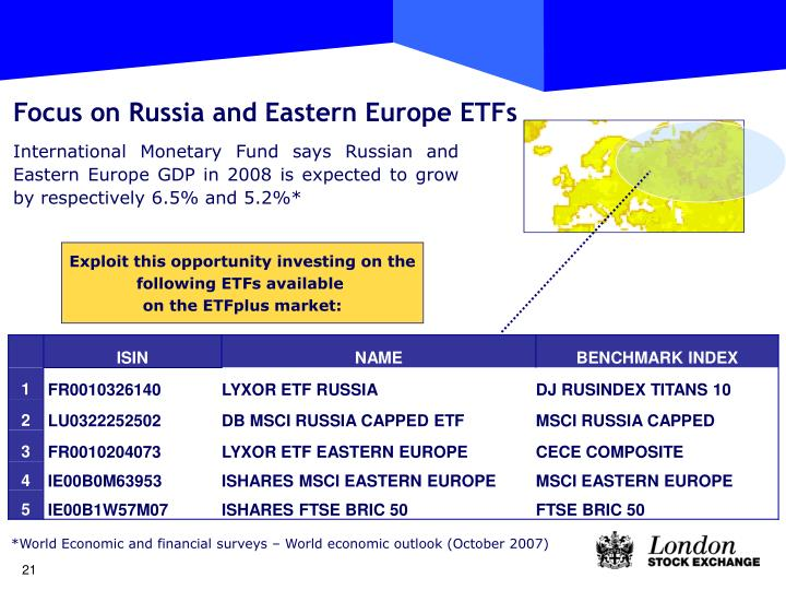 Focus on Russia and Eastern Europe ETFs