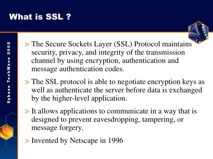 What is SSL ?