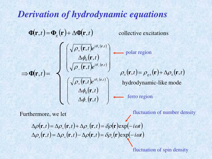 Derivation of hydrodynamic equations