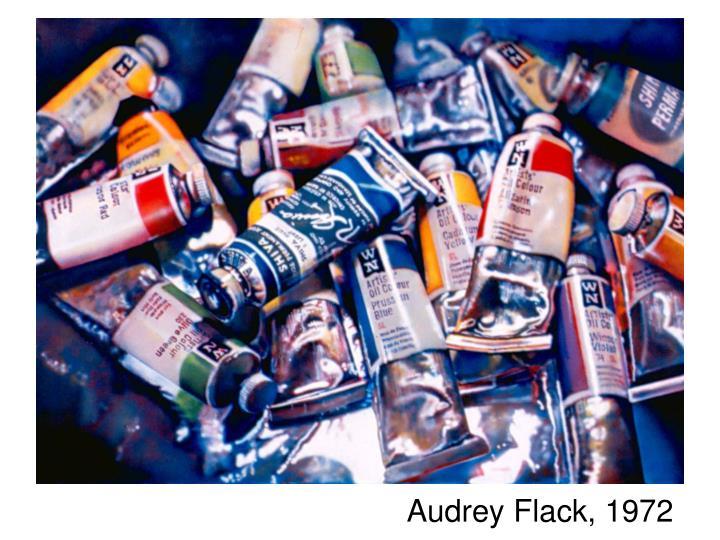Audrey Flack, 1972