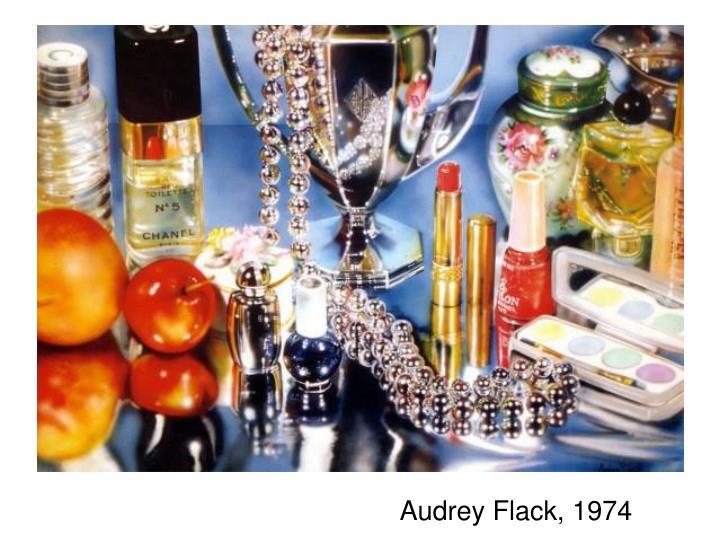 Audrey Flack, 1974
