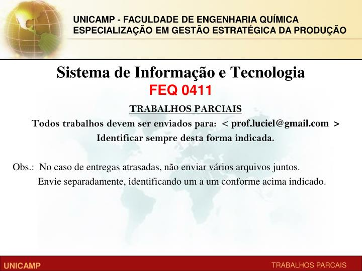 Sistema de informa o e tecnologia feq 04111