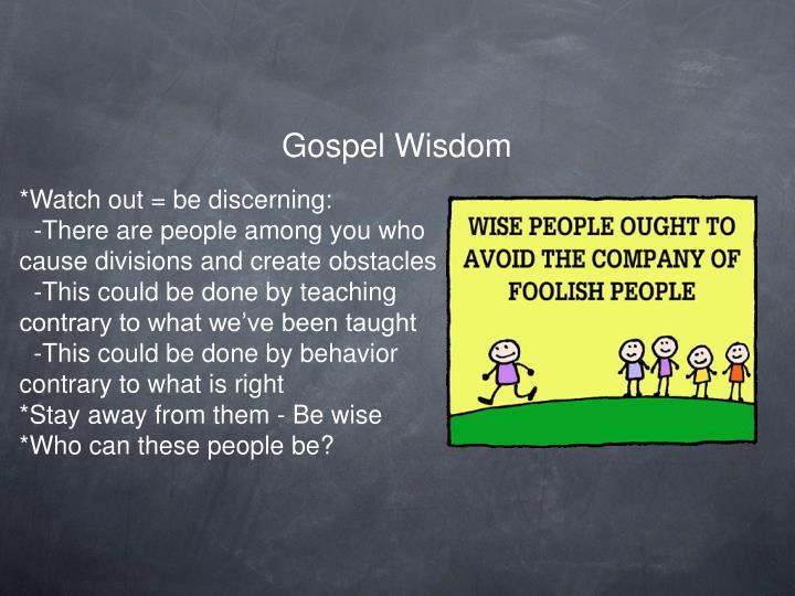 Gospel Wisdom