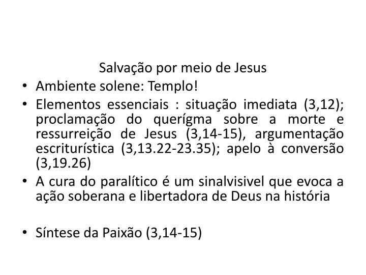 Salvação por meio de Jesus
