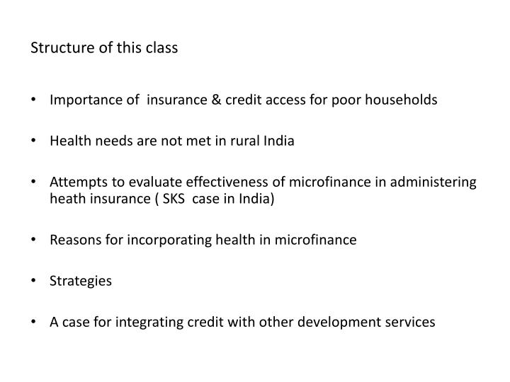 Structure of this class