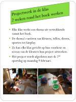 projectwerk in de klas 2 weken rond het boek werken
