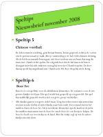 speltips nieuwsbrief november 2008