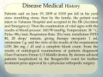 disease medical history