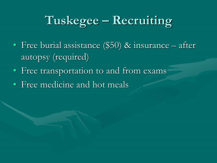 tuskegee and medical ethics in 1932 Tuskegee syphilis experiment name university of phoenix tuskegee syphilis experiment the tuskegee syphilis experiment was a 40 years study from 1932 to 1972 in tuskegee, alabama the experiment was conducted on a group of 399 impoverished and illiterate african american sharecroppers.