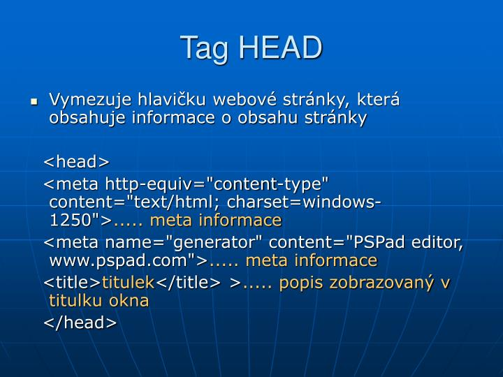 Tag HEAD