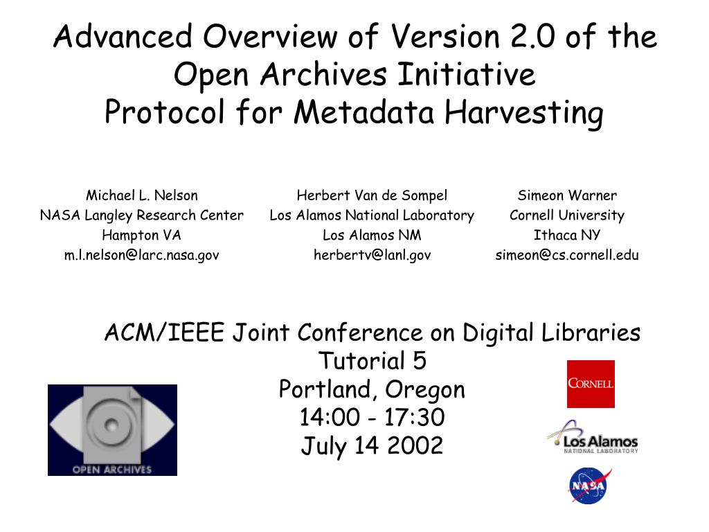 PPT - Advanced Overview of Ver...