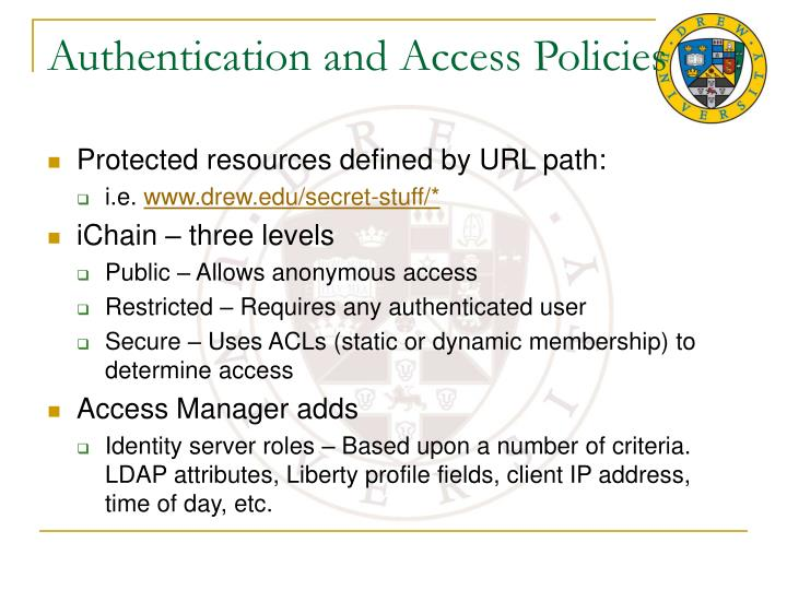Authentication and Access Policies